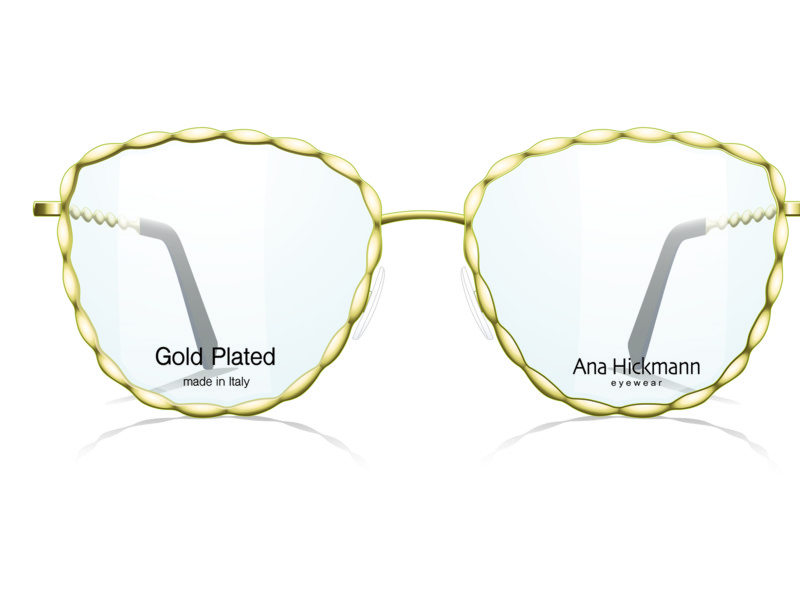 Ana Hickmann Eyewear lanceert 24K Gold Plated Edition