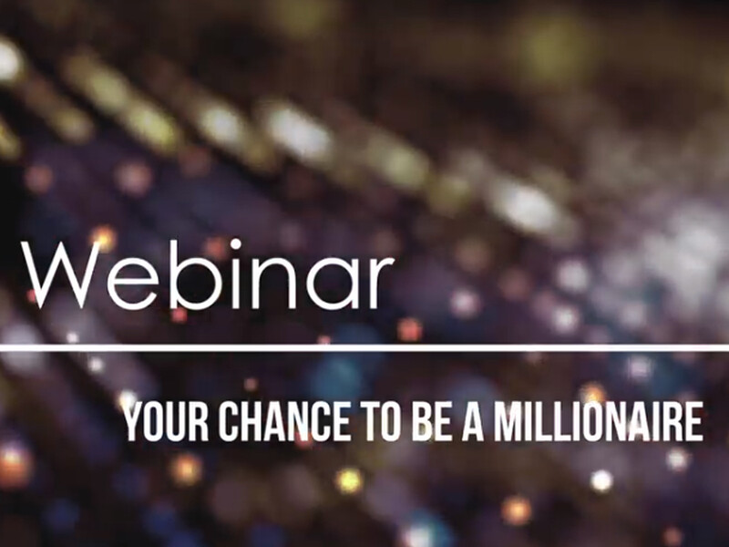 Webinar mark'ennovy: your chance to be a millionaire