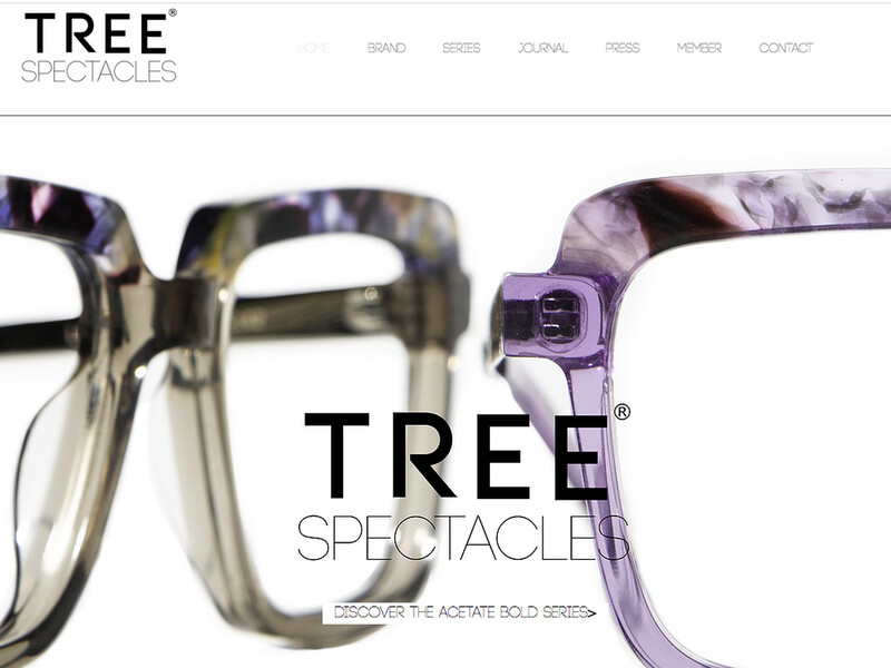 Nieuwe website en brandstyling Tree Spectacles